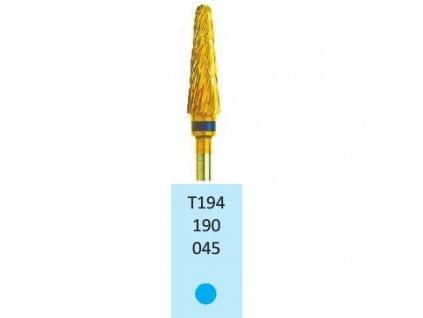 Tvrdokovová fréza s titanovou vrstvou - kónus zakulacený, T194190, 4,5mm