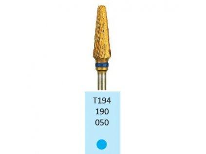 Tvrdokovová fréza s titanovou vrstvou - kónus zakulacený, T194190, 5mm