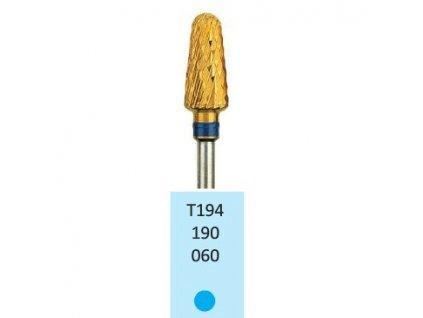 Tvrdokovová fréza s titanovou vrstvou - kónus zakulacený, T194190, 6mm