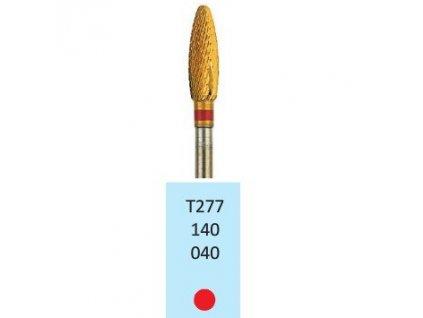 Tvrdokovová fréza s titanovou vrstvou - plamínek, T277140, průměr 4mm