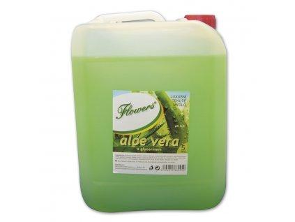 Tekuté mýdlo Flowers, Aloe Vera, 5l