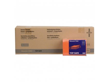 Akzenta Ochranné roušky (bryndáky) pro pacienty, oranžové