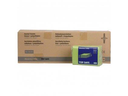 Akzenta Ochranné roušky (bryndáky) pro pacienty, zelená - fresh green