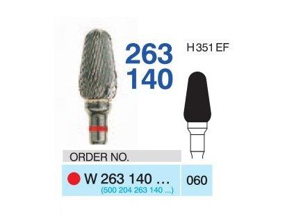 Tvrdokovová fréza - kónus zakulacený, W263140, průměr 6mm - DOPRODEJ POSLEDNÍCH KUSŮ