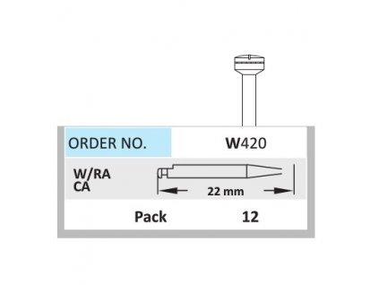 HORICO Mandrel pro leštící gumy a disky W420