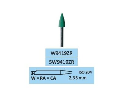 Leštící guma ZrO2-M W9419ZR