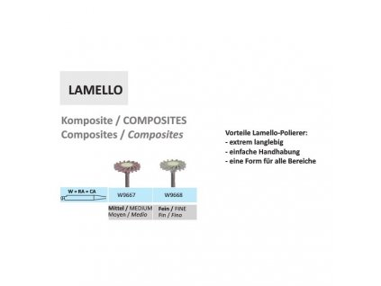 Leštící guma Lamello Komposite W9668