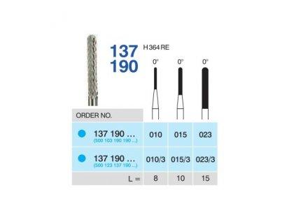 Tvrdokovová fréza - cylindr zakulacený, 137190, průměr 1,5mm