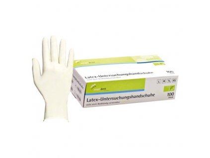 Smart latexové vyšetřovací rukavice bez pudru, vel.XS