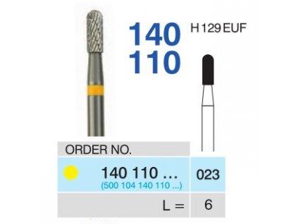 Tvrdokovová fréza - cylindr zakulacený, 140110, průměr 2,3mm