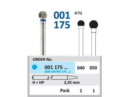 Tvrdokovová fréza - kulička, 001175, průměr 4mm
