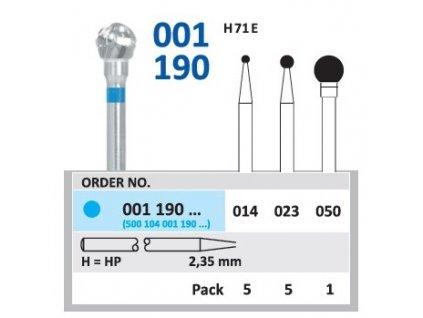 Tvrdokovová fréza - kulička, 001190, průměr 1,4mm