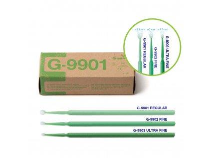 Greenline mikroaplikátory mini, 100ks regular