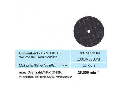 Disk na kovy, velikost 22 x 0,3 mm
