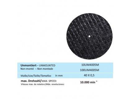 Disk na kovy, velikost 40 x 0,5 mm