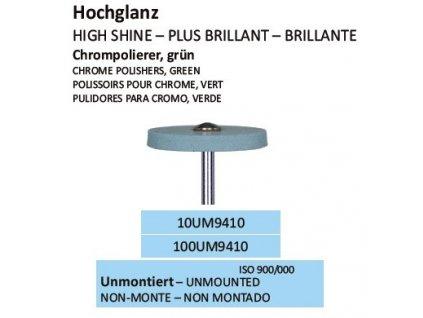 Leštící guma CHROMPOLIERER GRÜN UM9410 10ks