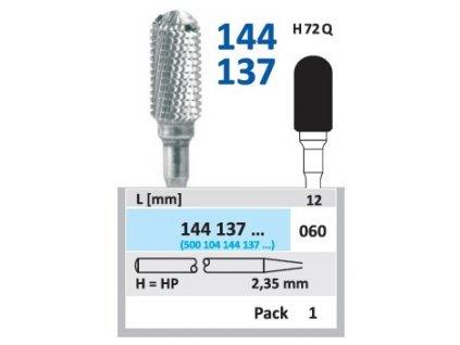 Tvrdokovová fréza - cylindr zakulacený, 144137, průměr 6mm