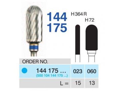 Tvrdokovová fréza - cylindr zakulacený, 144175, průměr 6mm - DOPRODEJ POSLEDNÍCH KUSŮ