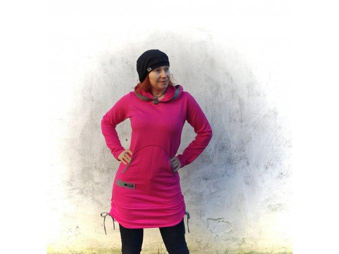 ...celoroční šaty / tunika- úplet 100 % bavlna
