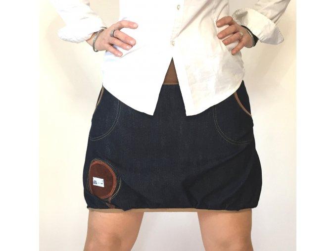 ...džínová balónová sukně ...