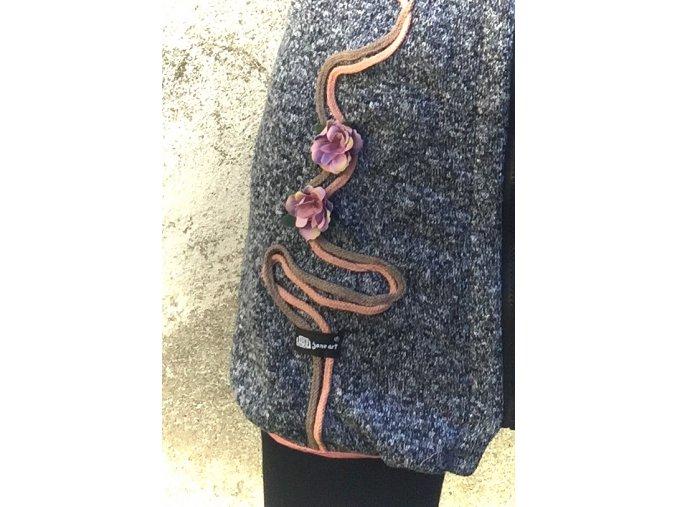 Balonový kabátek ze svetroviny