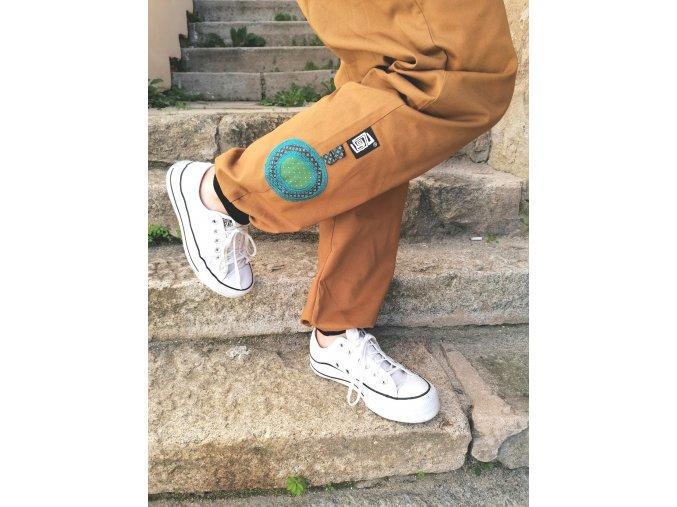 Kalhoty z broušeného plátna