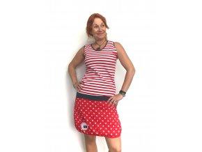 Letní šaty - úplet 100 % bavlna