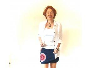 jarní / letní sukně z úpletu