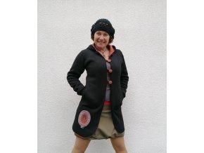 Jarní / podzimní kabátek ze svetroviny