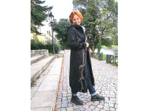 Jarní / podzimní  kabátek ze svetroviny - dlouhý