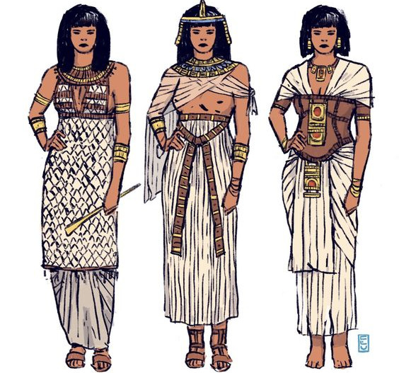 Plissé v dejinách ľudstva – Egypt _2.časť
