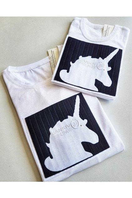 Unisex tričko biele jednorožec