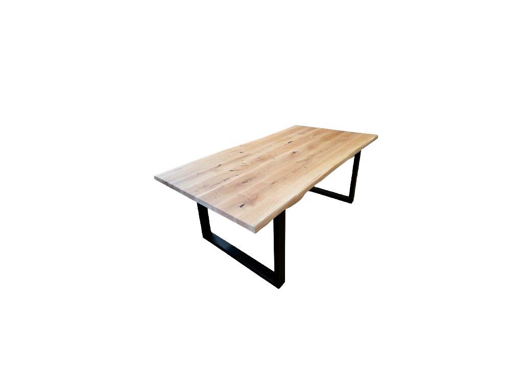 Stylový stůl s kovovými nohami dub přírodní ocelové nohy černé kovové nohy konstrukce jankovo.cz