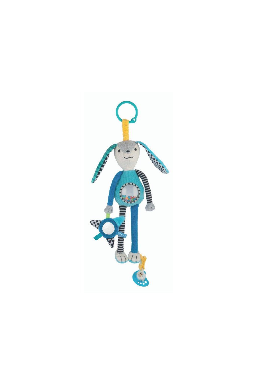 canpol babies plysova hracka s uchytem na dudlik zajicek