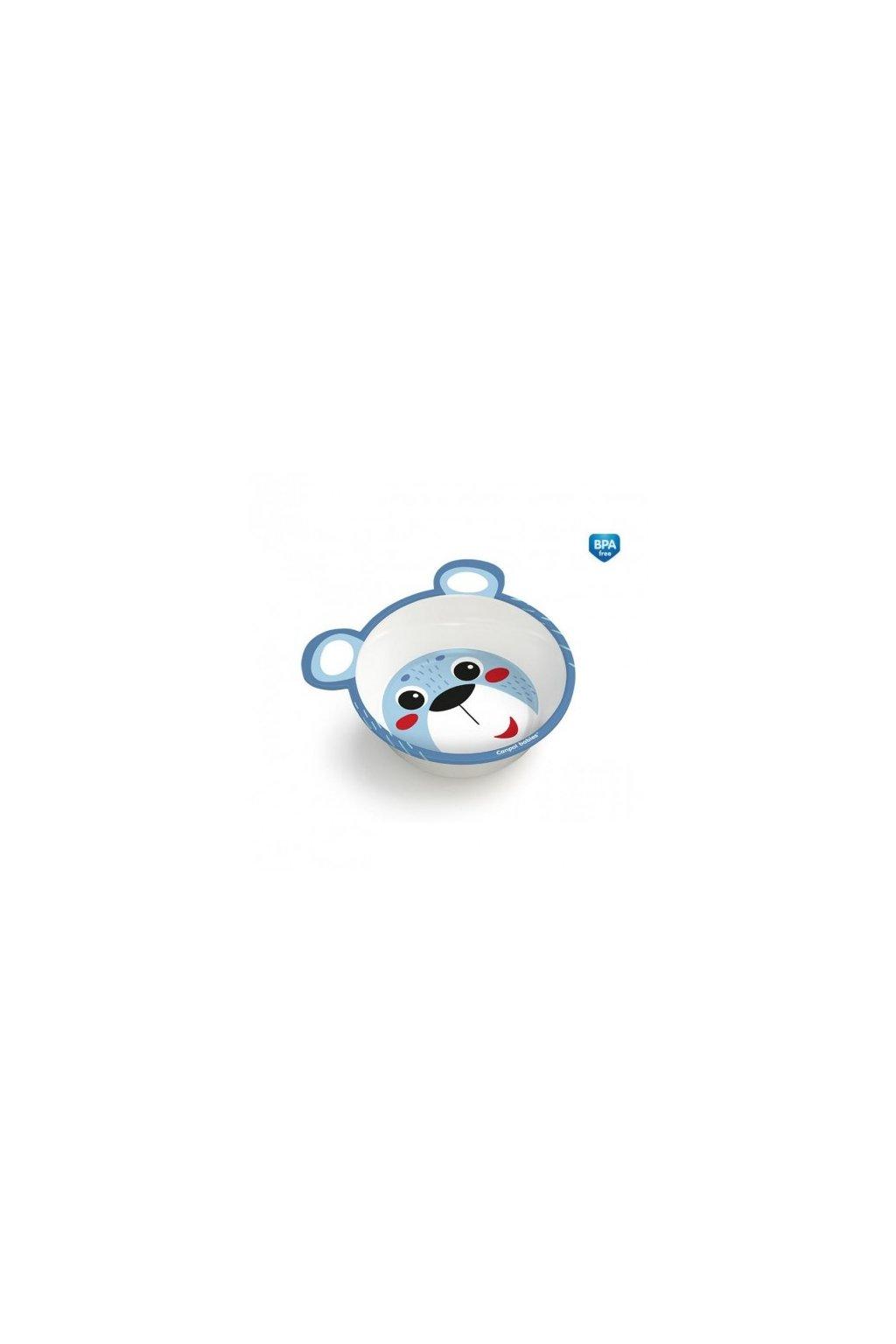 canpol babies melaminova miska protiskluzova s ousky hello little 490 ml modra 4520blu