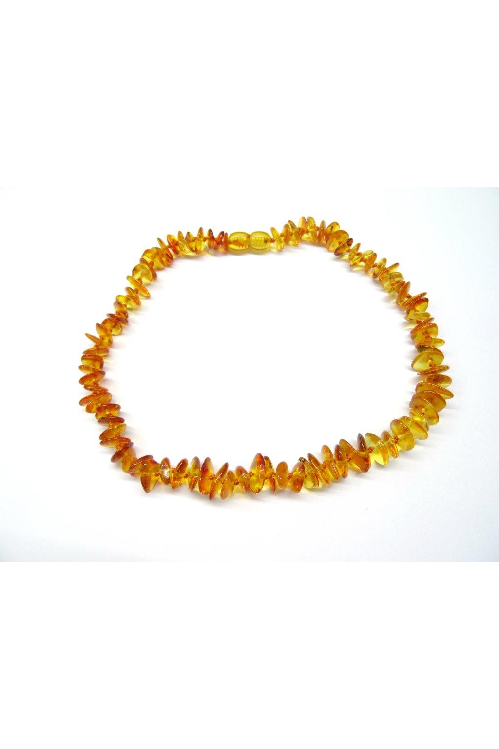 Jantarové korálky - přírodní medové tmavé (38 cm)