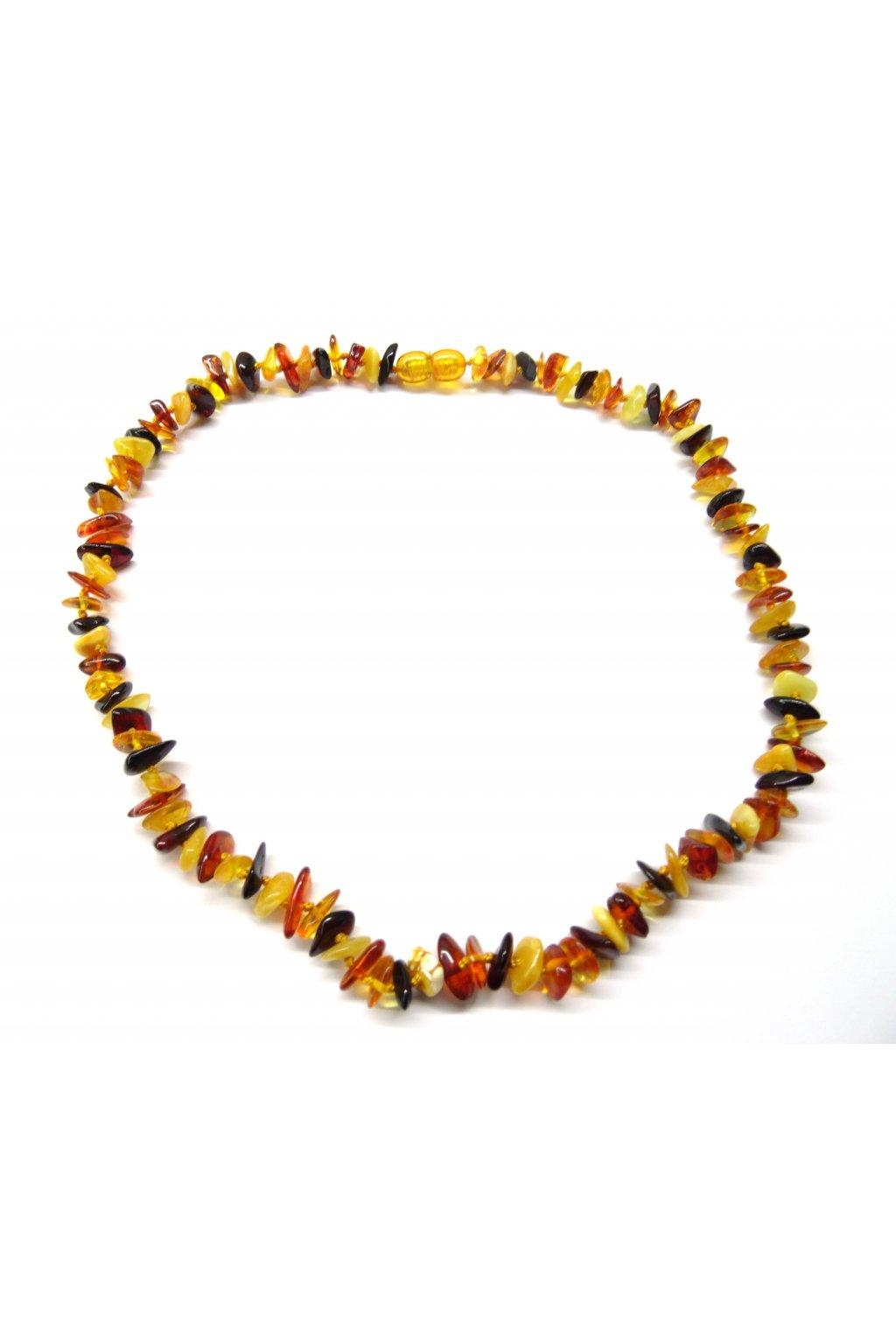 Jantarový náhrdelník - multicolor, 45cm