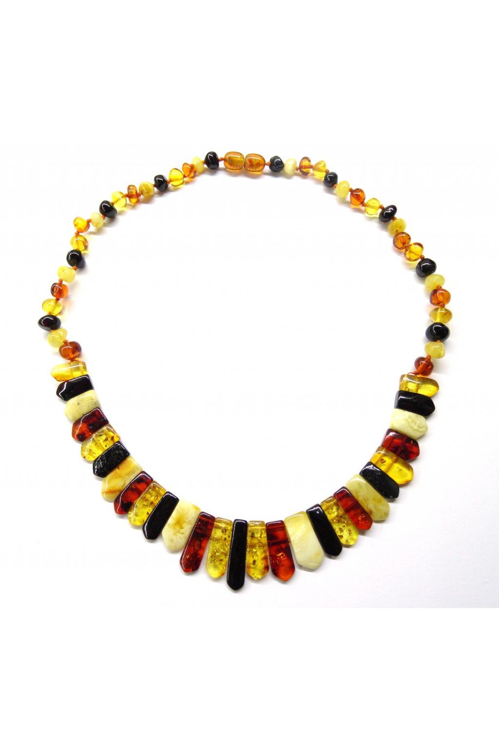Jantarový náhrdelník - různé délky
