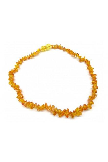 Jantarové korálky - přírodní medové světlé (38 cm)