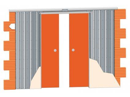 Stavební pouzdro JAP 713  EMOTIVE LINE - KOMFORT 2250 mm