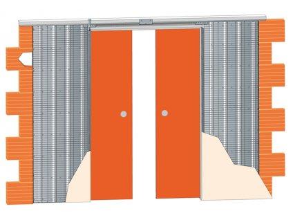 Stavební pouzdro JAP 712  AKTIVE LINE - KOMFORT 1850 mm