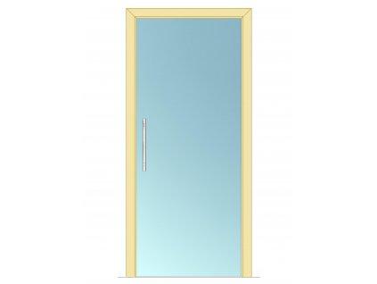 Celoskleněné dveře - posuvné - ČIRÉ 600mm