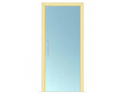 Celoskleněné dveře - posuvné - ČIRÉ 700mm
