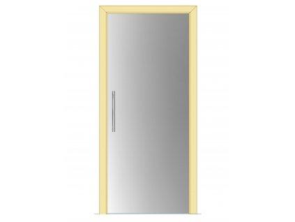 Celoskleněné dveře - posuvné - SATINÁTO 700mm