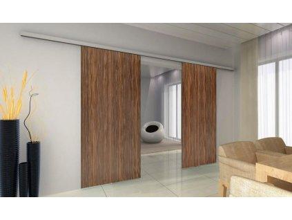 TRIX ZERO pro dřevěné dveře dvoukřídlý posuv