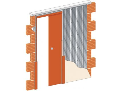 Stavební pouzdro JAP 705 NORMA LINE - STANDARD - ZEĎ 700 mm