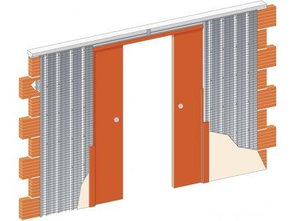 Stavební pouzdro JAP 715 NORMA LINE - KOMFORT - ZEĎ 1250 mm