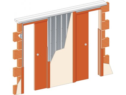 Stavební pouzdro JAP 720 NORMA LINE - UNIBOX - ZEĎ 2x700 mm