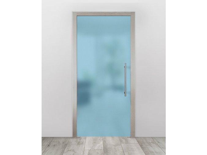 Celoskleněné dveře do pouzdra - Satinato modrá (Průchozí výška (cm) 210, Průchozí šířka (cm) 120)