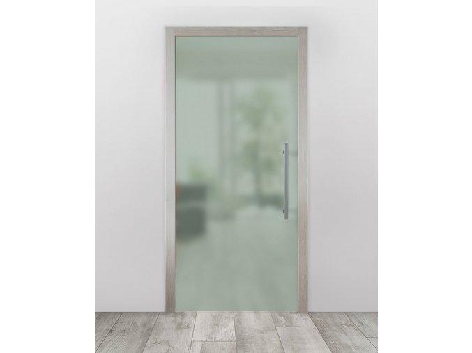 Celoskleněné dveře do pouzdra - Satinato Zelená (Průchozí výška (cm) 210, Průchozí šířka (cm) 120)